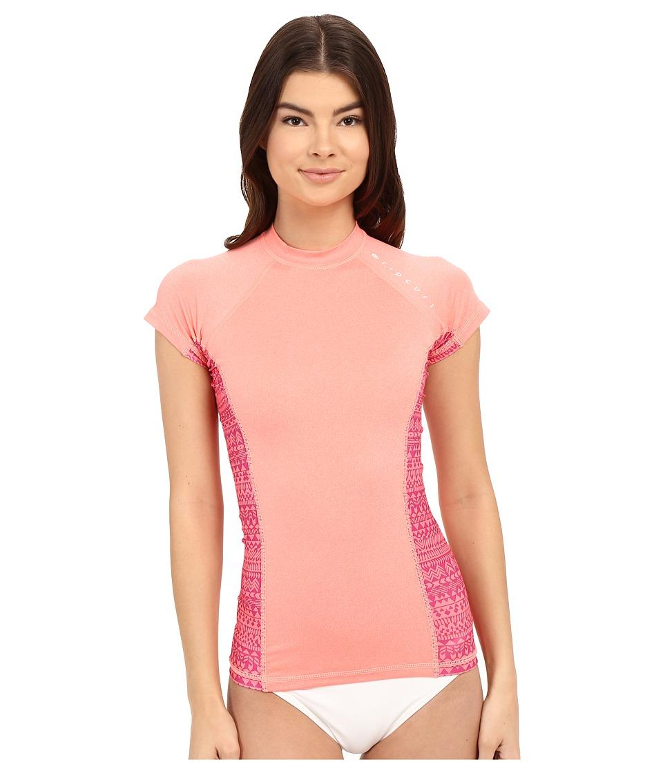 Rip Curl Trestles UV Tee Short Sleeve (Pink) Women