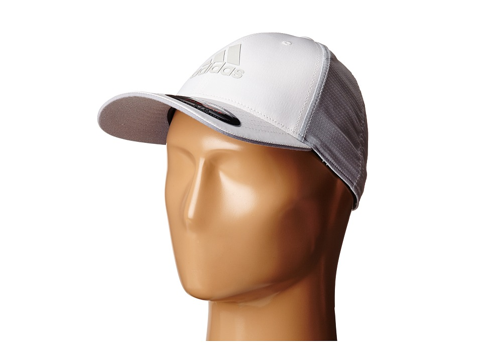 adidas Golf - Lightweight CLIMACOOL Flexfit Hat (White/Clear Grey) Caps
