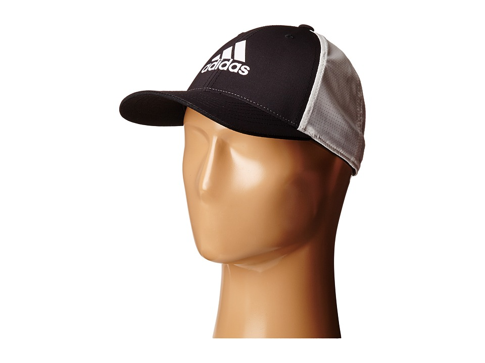 adidas Golf - Lightweight CLIMACOOL Flexfit Hat (Black/White) Caps