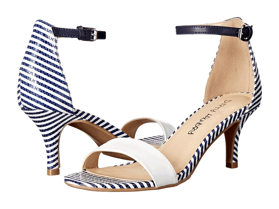 Dirty Laundry - DL Jump In (White/Navy) Women's 1-2 inch heel Shoes