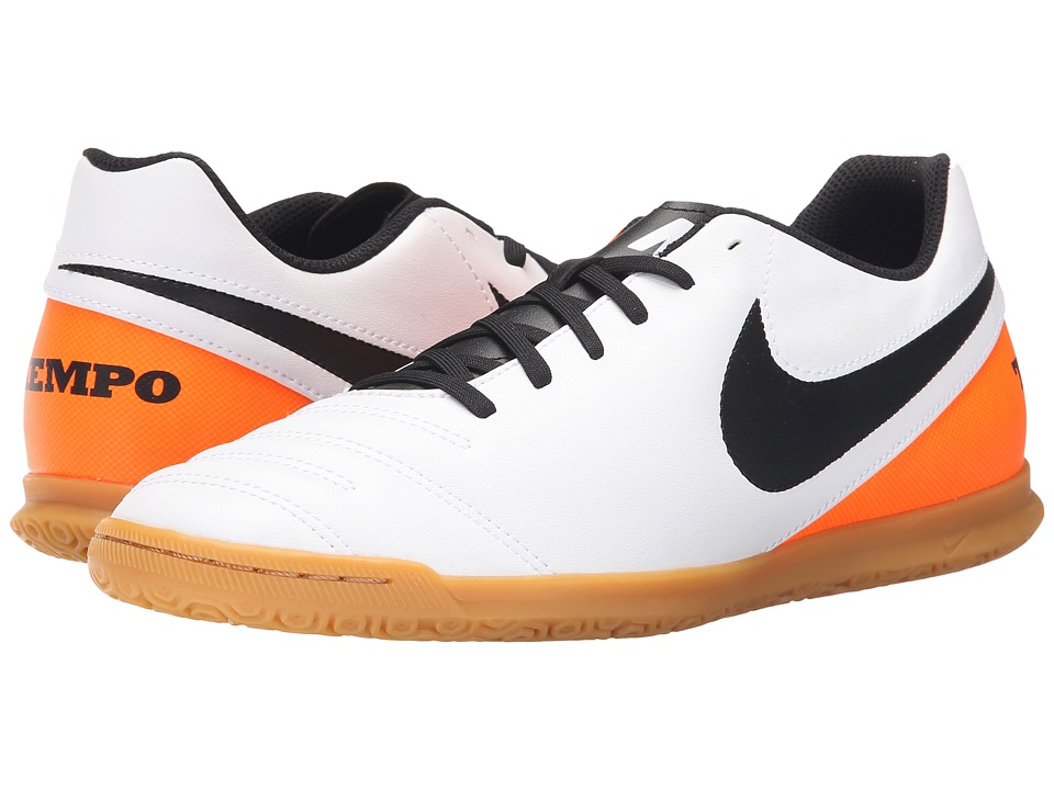 Nike - Tiempo Rio III IC (White/Total Orange/Black) Men's Soccer Shoes