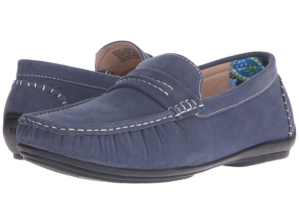 Stacy Adams - Park (Navy) Men's Slip on Shoes