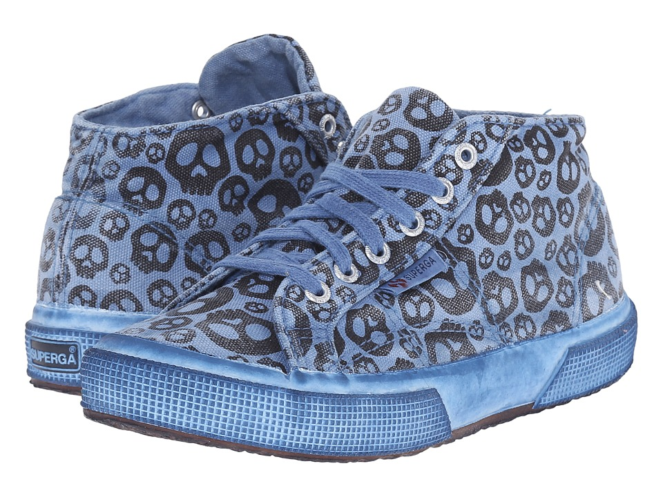 Superga Kids - 2754 Fantasycotjdyed (Infant/Toddler/Little Kid/Big Kid) (Skulls Blue) Kid