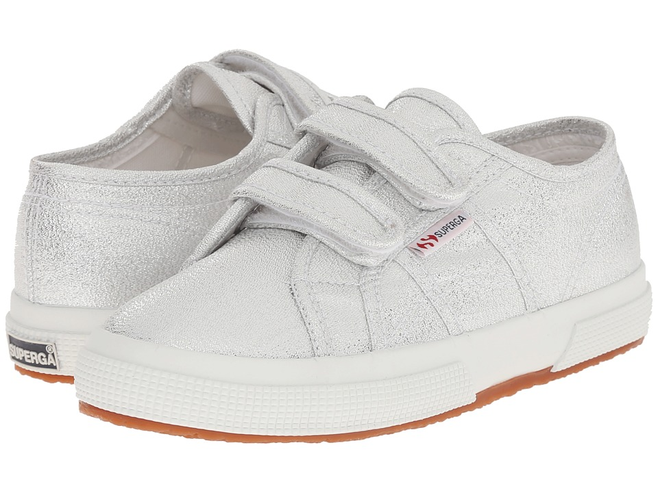 Superga Kids - 2750 Lameveli (Infant/Toddler/Little Kid/Big Kid) (Silver) Girl