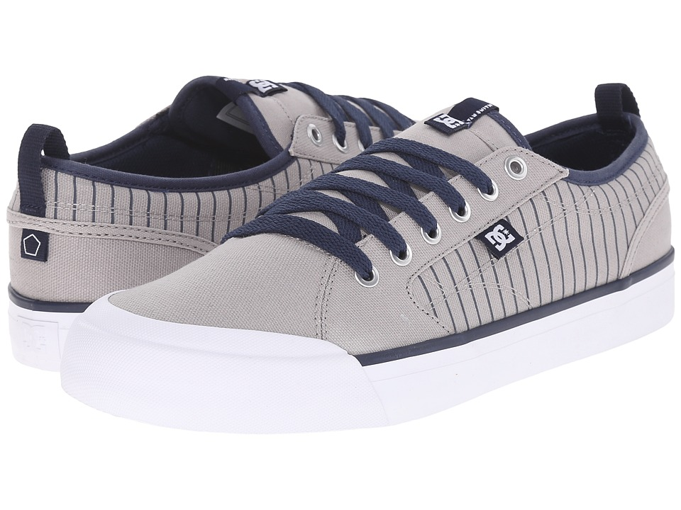 DC - Evan Smith TX (Grey/Dark Navy) Men's Flat Shoes