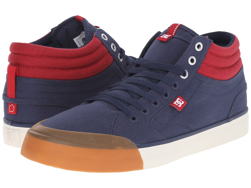 DC - Evan Smith Hi (Navy/Red) Men's Skate Shoes