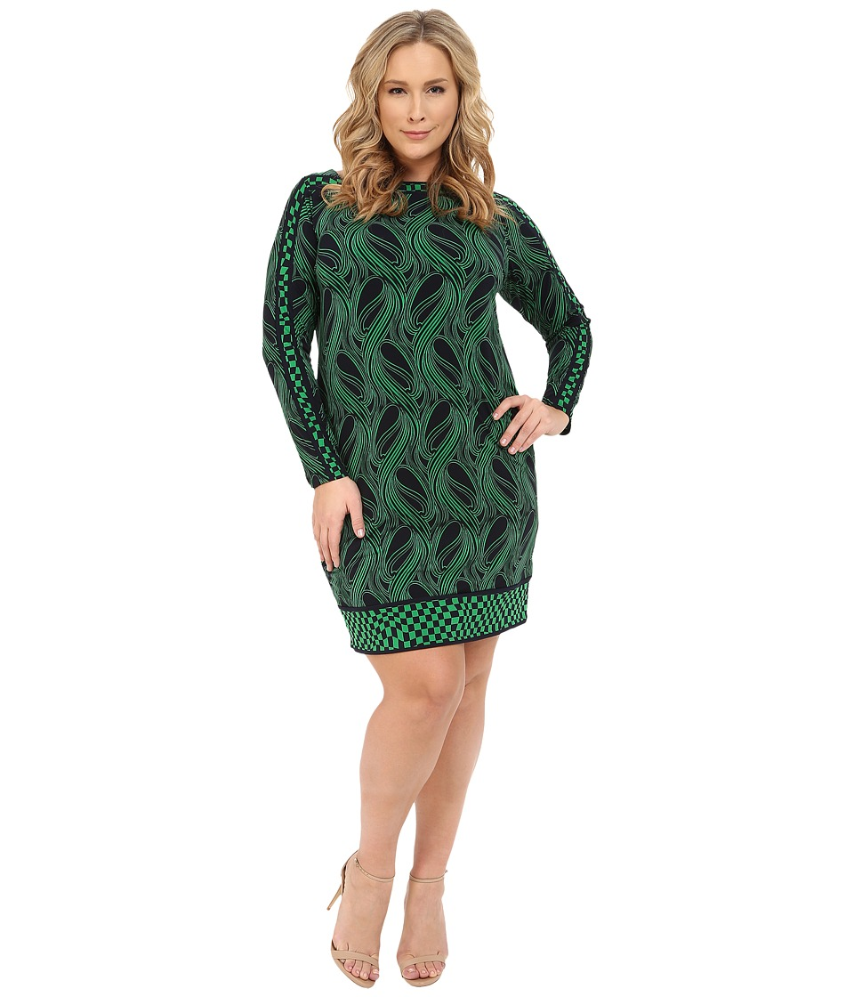 MICHAEL Michael Kors - Plus Size Boatneck Boudoir Dress (Spring Green) Women's Dress