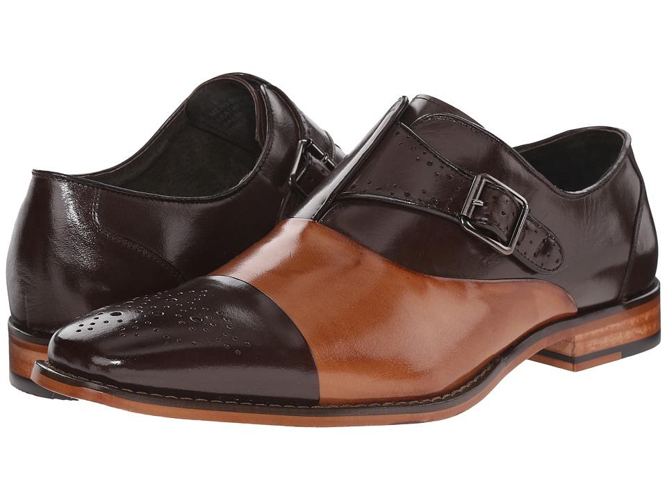Stacy Adams - Tipton (Brown/Tan) Men's Monkstrap Shoes