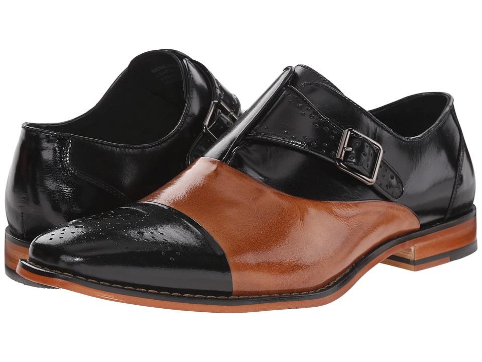 Stacy Adams - Tipton (Black/Tan) Men's Monkstrap Shoes