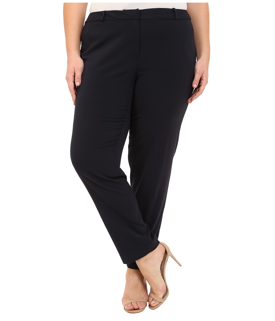 MICHAEL Michael Kors - Plus Size Wellesley Ankle Pants (New Navy) Women's Casual Pants