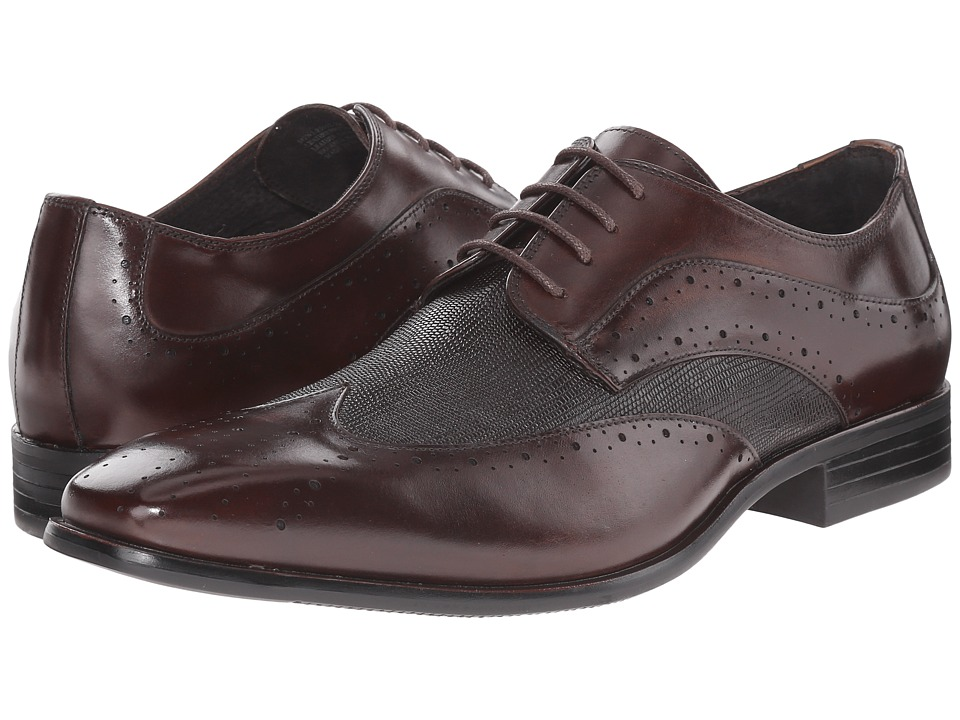 Stacy Adams - Maximillian (Brown) Men's Lace Up Wing Tip Shoes