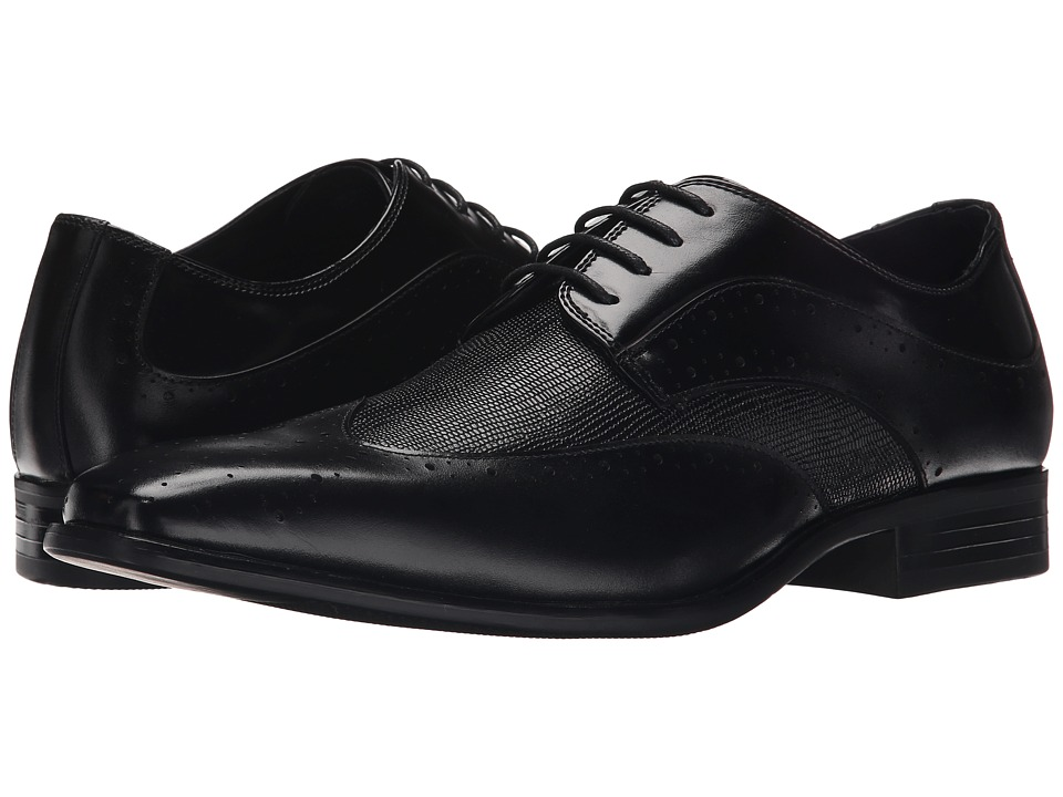 Stacy Adams - Maximillian (Black) Men's Lace Up Wing Tip Shoes