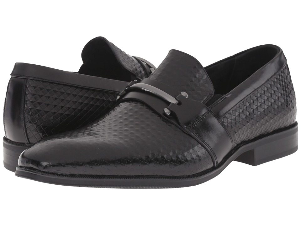 Stacy Adams - Fiero (Black) Men's Plain Toe Shoes