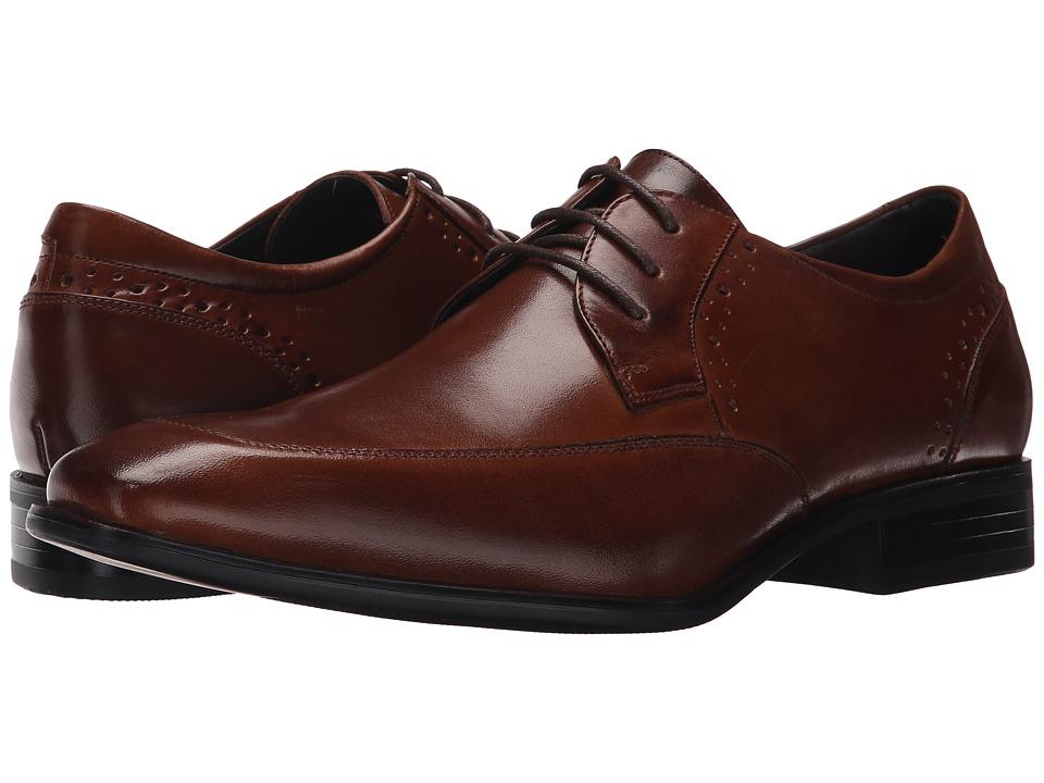 Stacy Adams - Manchester (Cognac) Men's Lace Up Moc Toe Shoes