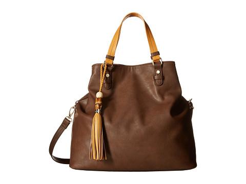 Big Buddha - Tori Convertible Tote (Brown/Camel) Tote Handbags