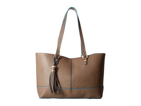 Big Buddha - Tegan Tote (Taupe/Blue) Tote Handbags
