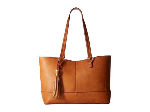 Big Buddha - Tegan Tote (Cognac/Burgundy) Tote Handbags