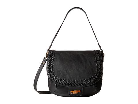 Big Buddha - Hana Whipstitch Messenger (Black) Messenger Bags