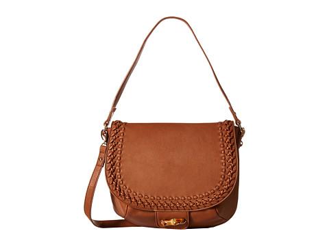 Big Buddha - Hana Whipstitch Messenger (Cognac) Messenger Bags