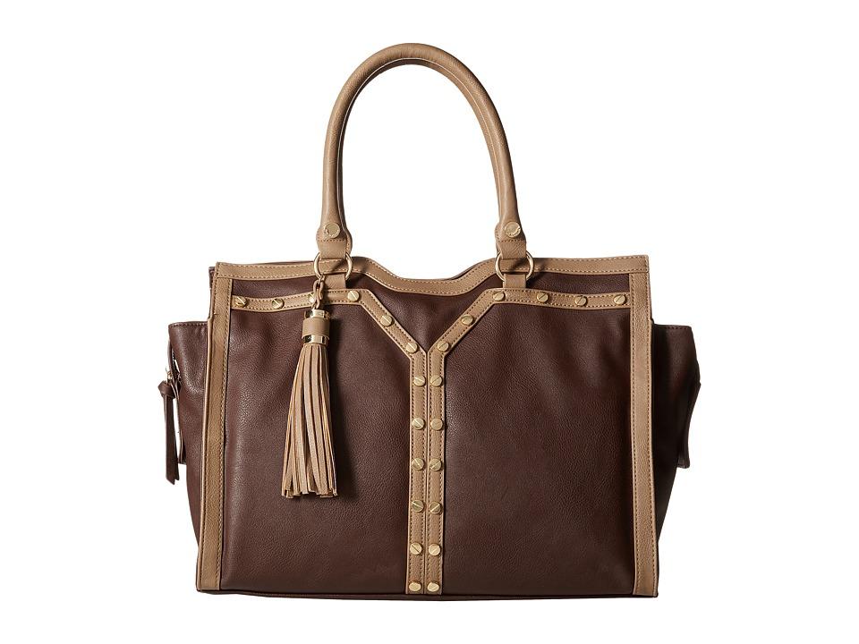 Big Buddha - Paige Tote (Brown/Taupe) Tote Handbags