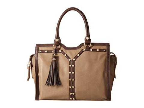 Big Buddha - Paige Tote (Taupe/Brown) Tote Handbags