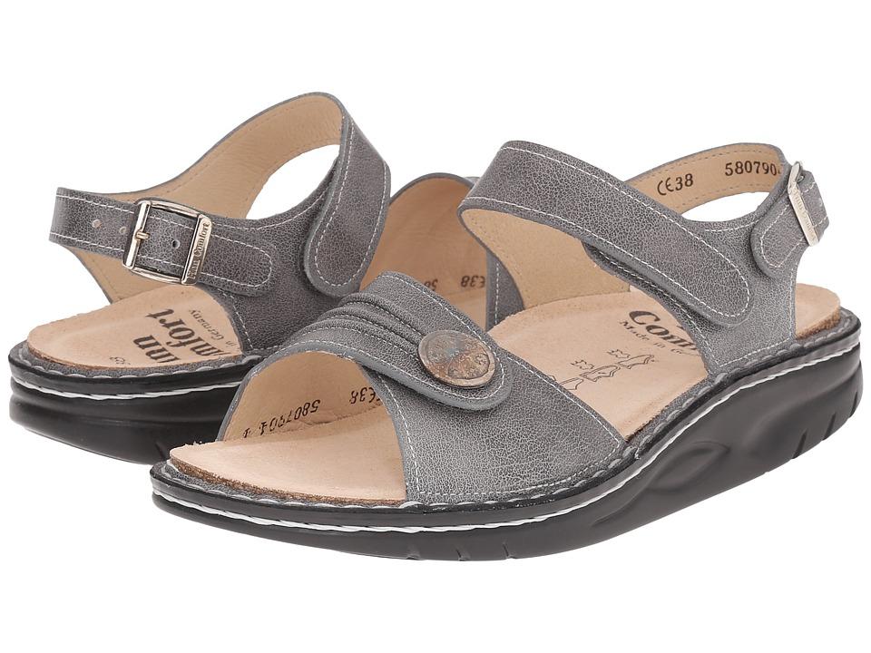 Finn Comfort - Sausalito - 1572 (Grey) Women's Toe Open Shoes