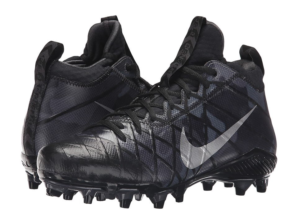 Nike - Field General 3 Elite TD (Black/Anthracite/Dark Grey/Metallic Silver) Men's Cleated Shoes