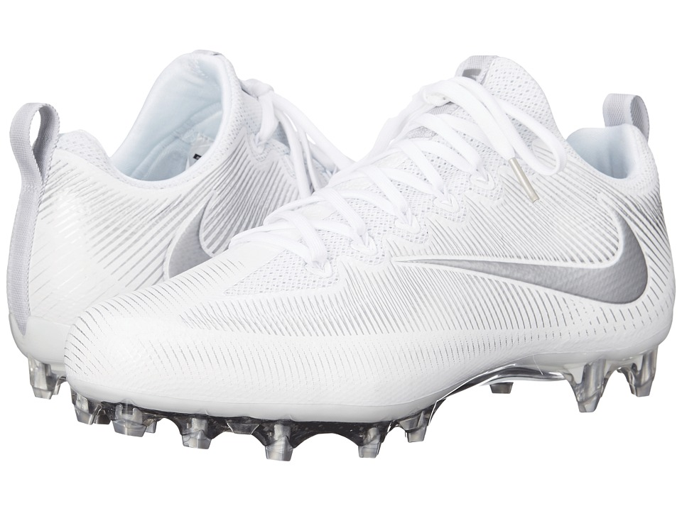 Nike - Vapor Untouchable Pro (White/Metallic Silver) Men's Cleated Shoes