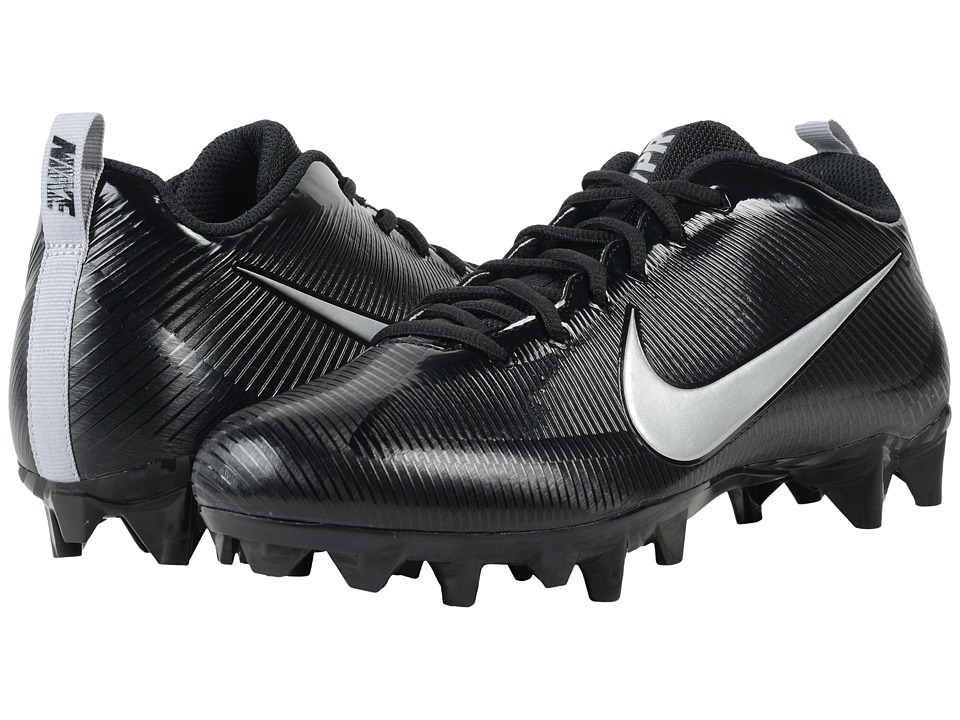 Nike - Vapor Strike 5 TD (Black/Black/Metallic Silver) Men's Cleated Shoes