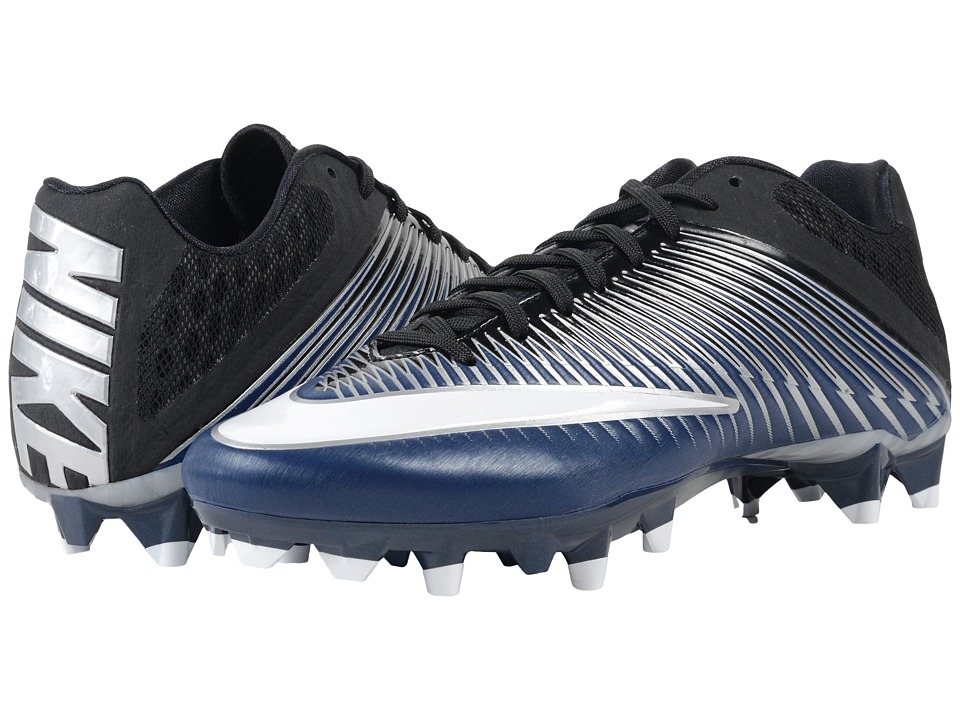 Nike - Vapor Speed 2 TD (Midnight Navy/Metallic SIlver/Black/WHite) Men's Cleated Shoes