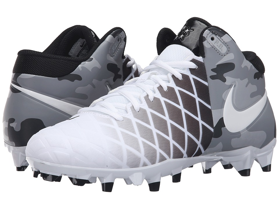 Nike - Field General Pro TD (White/Black/Metallic Silver/White) Men's Cleated Shoes
