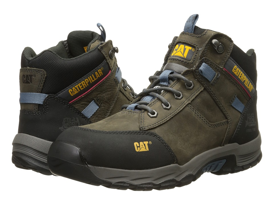 Caterpillar - Safeway Mid ST (Dark Gull Grey) Men's Work Boots