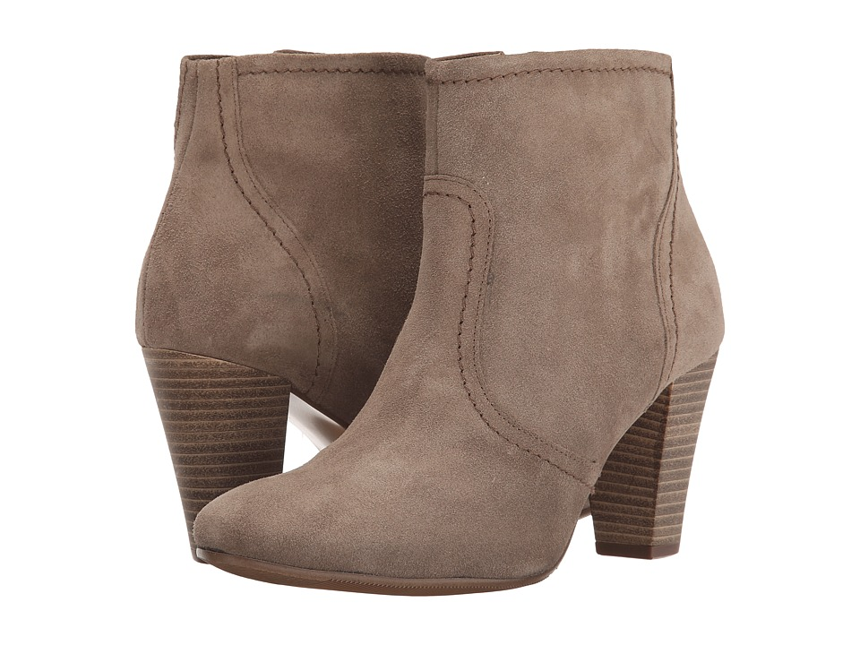 Dune London - Portia (Taupe Suede) Women's Zip Boots