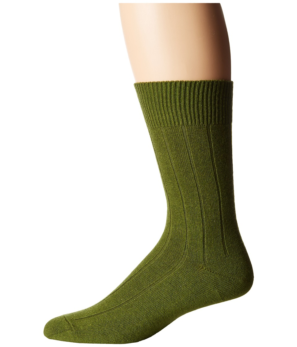 Falke - Lhasa Rib Sock (Moss) Men's Crew Cut Socks Shoes