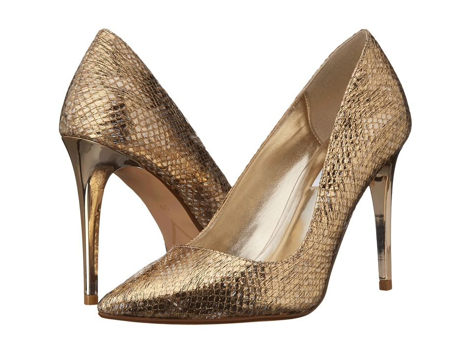 Dune London - Betsee (Gold Snake) High Heels