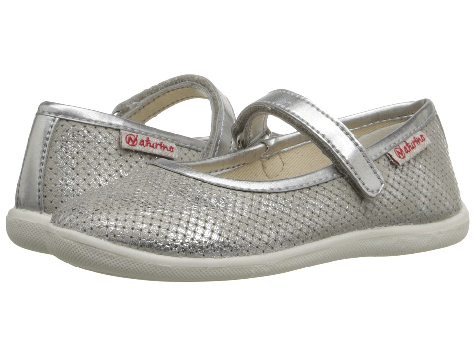 Naturino - Nat. 7944 USA SS16 (Toddler/Little Kid/Big Kid) (Silver 1) Girls Shoes