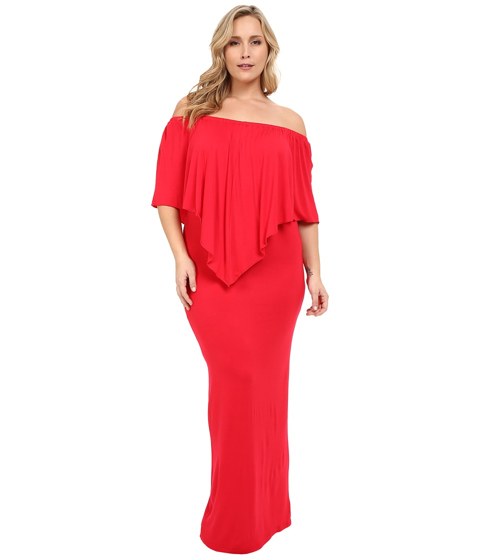 Culture Phit - Plus Size Ayden Dress (Red) Women's Dress