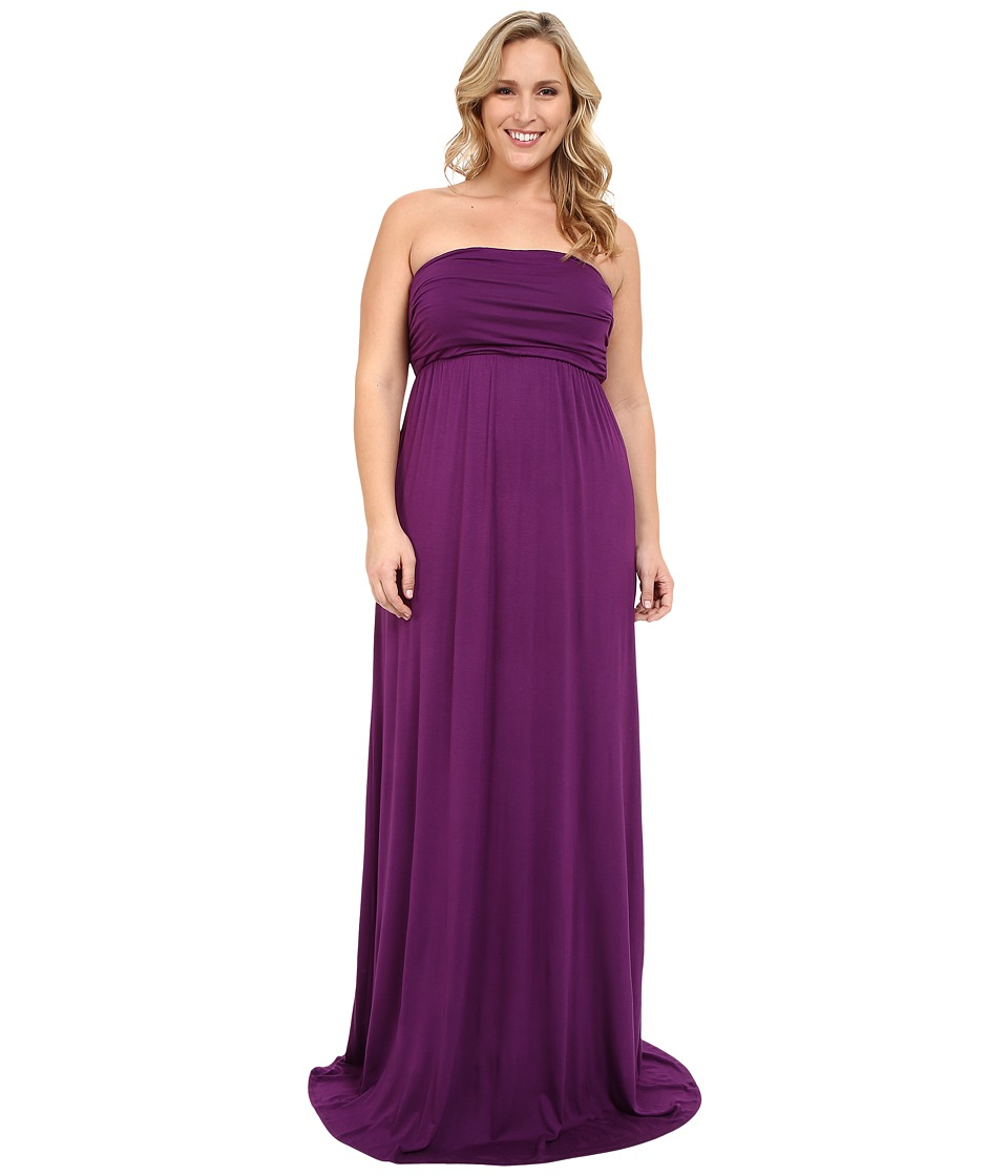 Culture Phit - Plus Size Hally Dress (Eggplant) Women's Dress