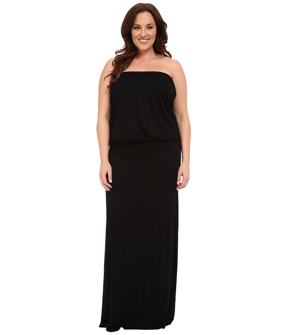 Culture Phit - Plus Size Riena Maxi Dress (Black) Women's Dress