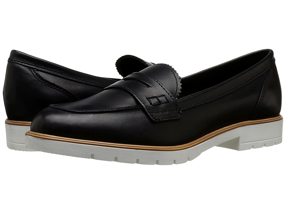 Dune London - Gleat (Black Leather) Women's Flat Shoes