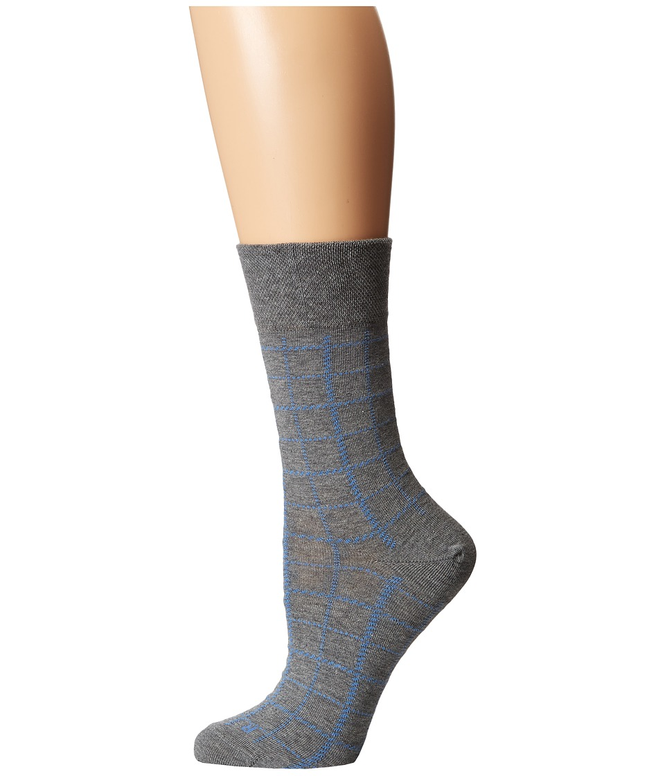 Falke - Square Sock (Grey) Women's Crew Cut Socks Shoes