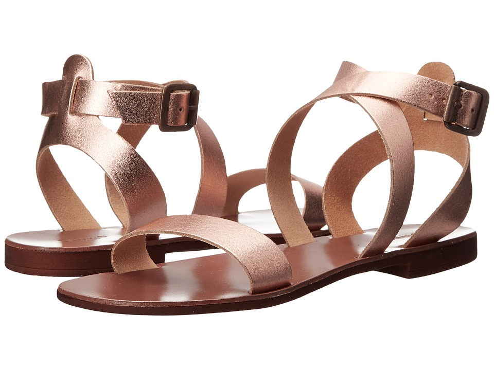 Dune London - Lotti (Rose Gold Leather) Women's Sandals