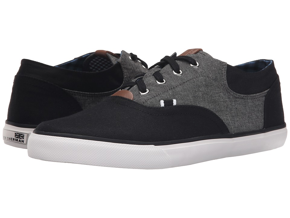 Ben Sherman - Steven (Jet Black) Men's Lace up casual Shoes