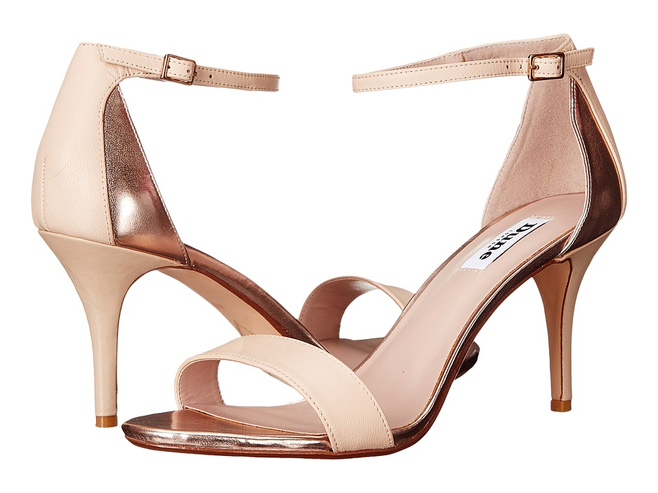 Dune London - Mariee (Rose Gold Leather/Metallic) Women's Shoes