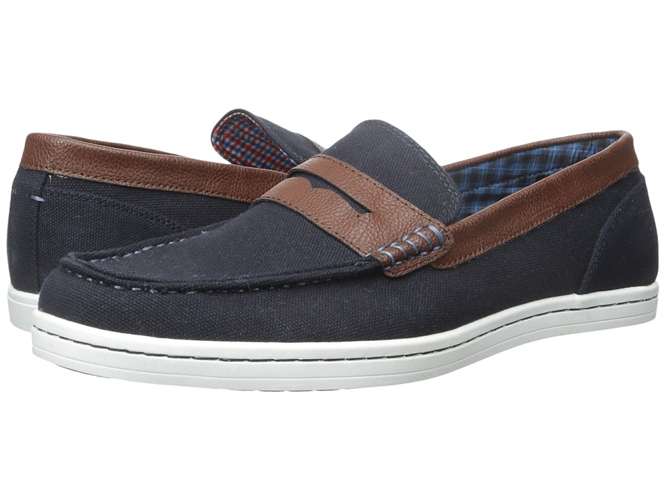 Ben Sherman - Parnell Loafer (Navy Canvas) Men's Slip on Shoes