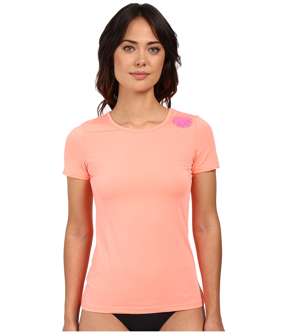 Rip Curl - Whitewash Loose Fit Short Sleeve (Coral) Women's Swimwear