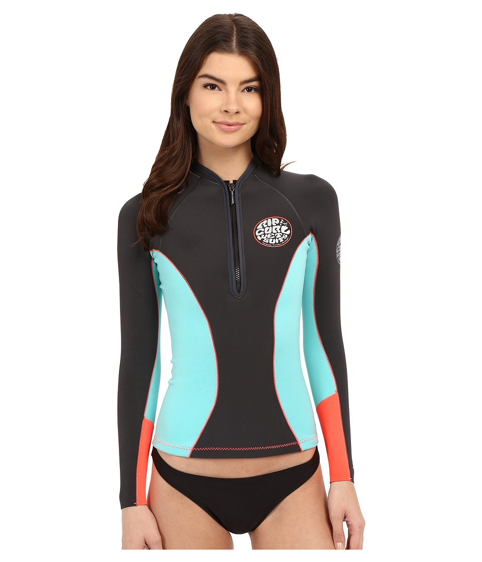 Rip Curl - G Bomb Long Sleevel Front Zip Jacket (Grey) Women's Swimwear