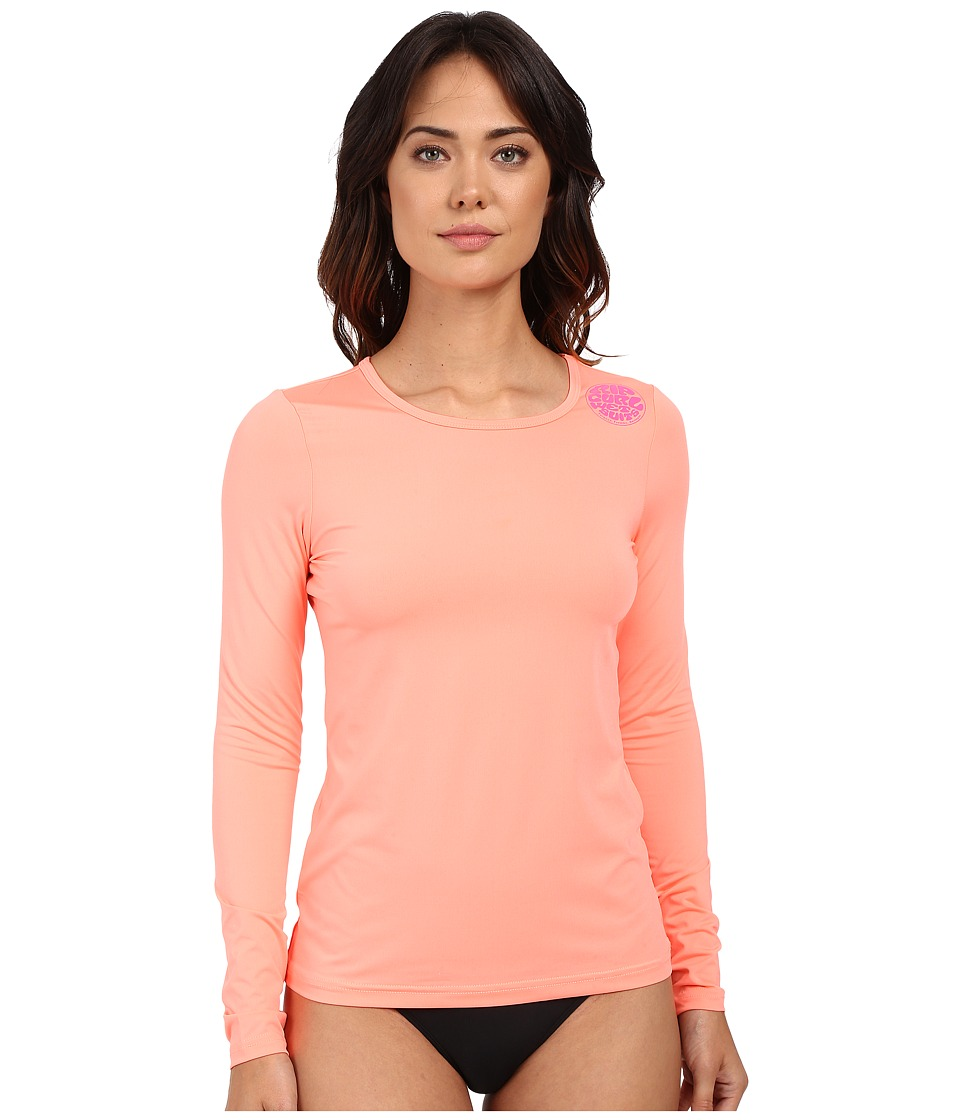 Rip Curl - Whitewash Loose Fit Long Sleeve (Coral) Women's Swimwear