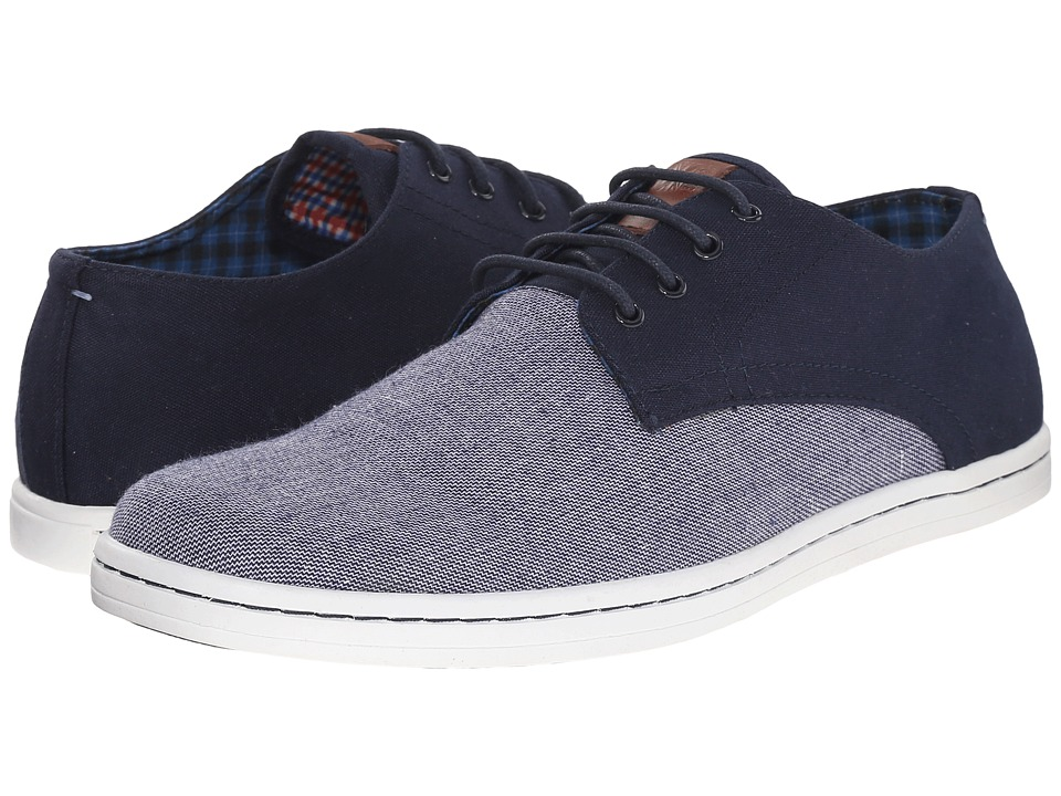 Ben Sherman - Parnell Oxford (Navy Linen) Men's Lace up casual Shoes