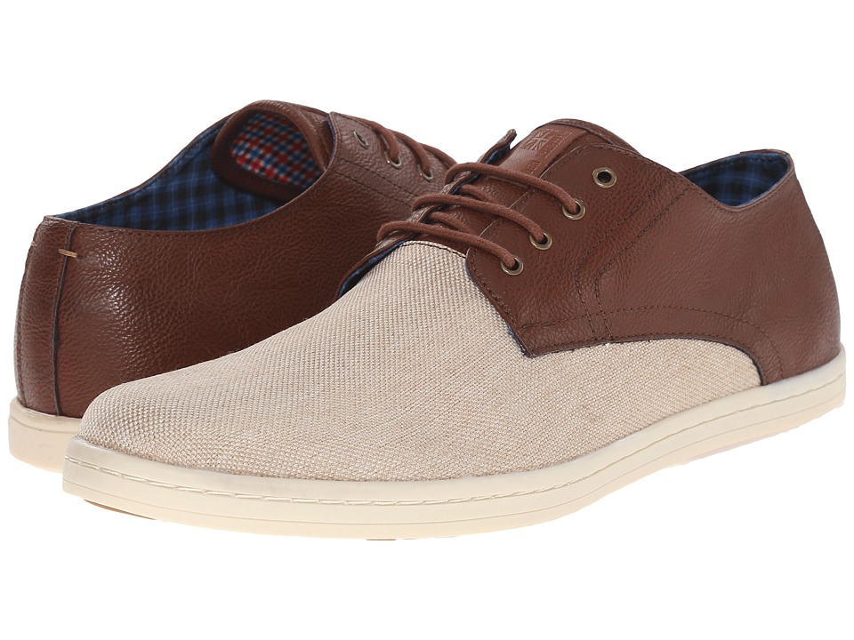 Ben Sherman - Parnell Oxford (Cognac Linen) Men's Lace up casual Shoes